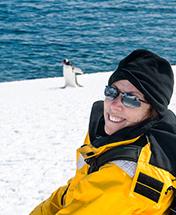 Ann-Rhea Fitch in Antarctica